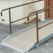 Aluminium Double Handrail 1300mm
