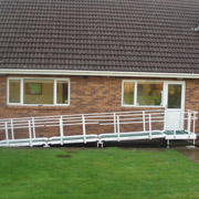 Fibreglass Semi Permanent Ramp Double Handrail (Extra Long)