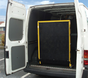 Fixed Solid Van Loading Ramp 750kg SWL
